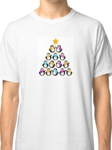 Penguins standing in pyramid - cute Penguins making triangle Classic T-Shirt