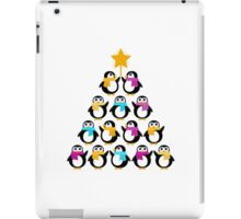 Penguins standing in pyramid - cute Penguins making triangle iPad Case/Skin