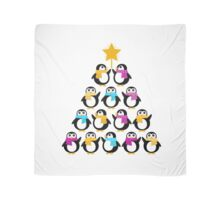 Penguins standing in pyramid - cute Penguins making triangle Scarf