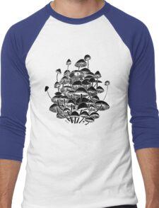 black mushrooms Men's Baseball ¾ T-Shirt