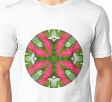 Circle 3: Leaves of Pink and Green Unisex T-Shirt