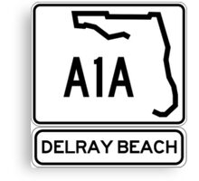 A1A - Delray Beach Canvas Print