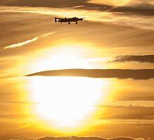RAF Lancaster Bomber Sunset by danielkennedy93