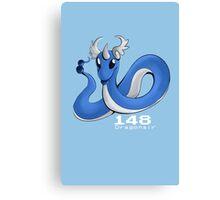 Pokemon #148: Dragonair Canvas Print