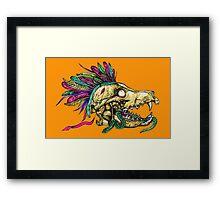 Wolf Skull Framed Print