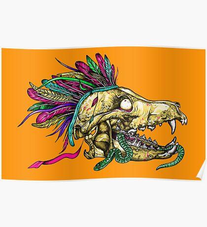 Wolf Skull Poster