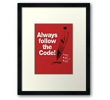 Dexter 'Always Follow The Code!' Framed Print