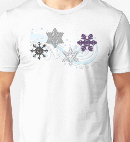 Asexual Snowflakes Unisex T-Shirt