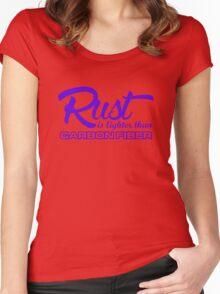 Rust is lighter than carbon fiber (2) Women's Fitted Scoop T-Shirt