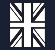 BRITISH, UNION JACK FLAG, UK, UNITED KINGDOM IN white by TOM HILL - Designer