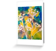 Cow Parsley Abstract Silhouette Greeting Card