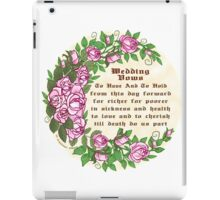 Roses Wedding Vows iPad Case/Skin