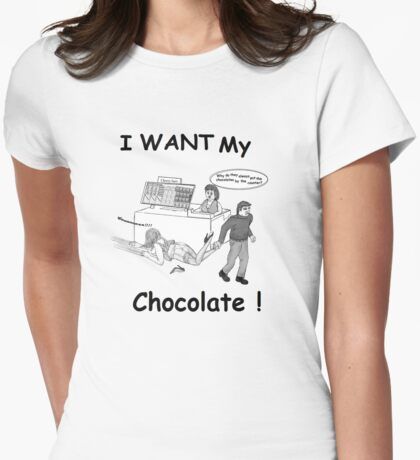 Choccy Blues Womens Fitted T-Shirt