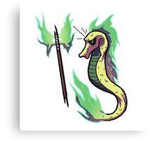Battle Axe Seahorse Canvas Print