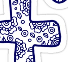zentangle f: navy Sticker