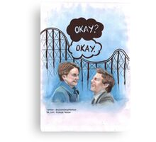 A roller coaster that only goes up Canvas Print