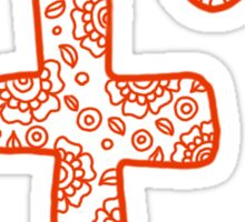 zentangle f: orange  Sticker