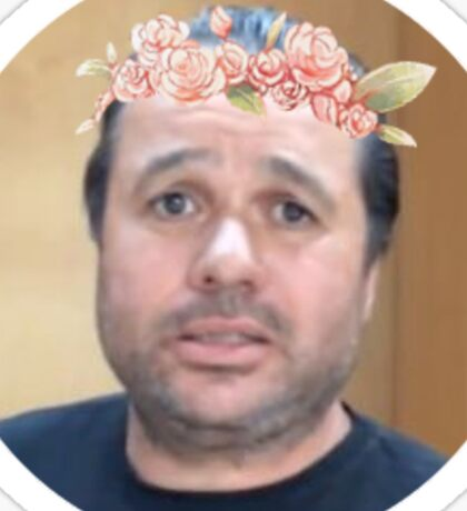 The Lord & Saviour In A Flower Crown Sticker