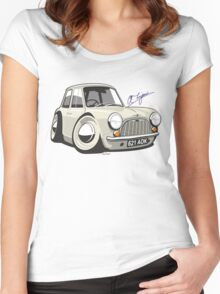 Morris Mini Mark 1 caricature Women's Fitted Scoop T-Shirt