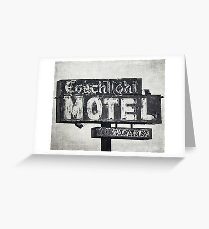 Coachlight Motel in Chicago Greeting Card
