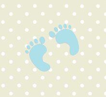 Baby Footprints (Footsteps) - Pale Blue  by sitnica
