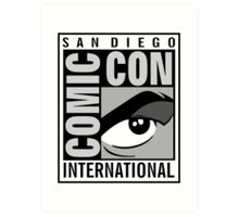Comic Con Greyscale Art Print