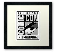 Comic Con Greyscale Framed Print