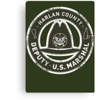 Harlan County Deputy US Marshal Grunge Canvas Print