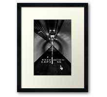 Keep Left Framed Print