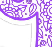 zentangle g: lavender  Sticker