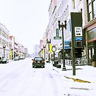 """""""A Cold and Snowy Day in Downtown Knoxville, Tennessee""""... prints and products by © Bob Hall"""