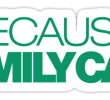 BECAUSE FAMILY CAR (3) Sticker