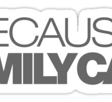 BECAUSE FAMILY CAR (4) Sticker