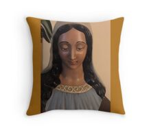 Mary Ceramic Bust  Throw Pillow