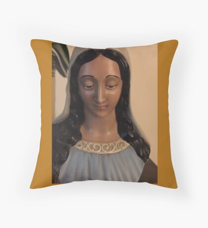 Mary Ceramic Bust  If you like, please purchase an item, thanks Throw Pillow