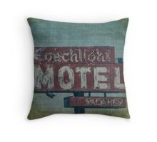 Coachlight Motel Throw Pillow