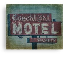 Coachlight Motel Canvas Print