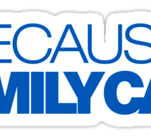 BECAUSE FAMILY CAR (5) Sticker