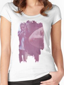 Kate Beckett - brush effect Women's Fitted Scoop T-Shirt