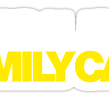 BECAUSE FAMILY CAR (6) Sticker