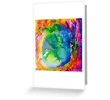 Earth on Fire Greeting Card