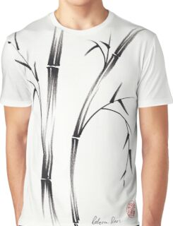 """Morning""  sumi-e brush pen bamboo drawing/painting Graphic T-Shirt"