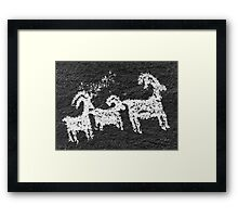 Wolf Ranch rock art .4 Framed Print