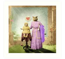 Momma Kitty Loves Her Kitten Art Print