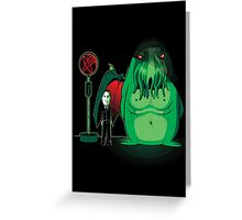 Cthulhu Waits Greeting Card