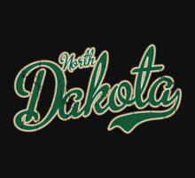 North Dakota Script VINTAGE Green by USAswagg2