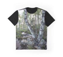 Twin Birch Tree Graphic T-Shirt