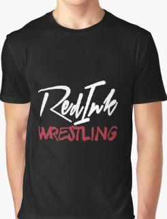 Red Ink Wrestling Logo Graphic T-Shirt