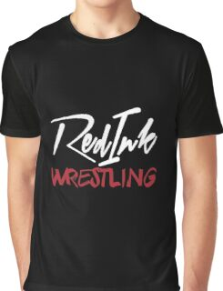 Red Ink Wrestling Logo Graphic T-Shirt