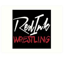 Red Ink Wrestling Logo Art Print